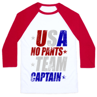 USA No Pants Team Captain Baseball