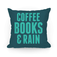 Coffee Books & Rain Pillow (Blue)