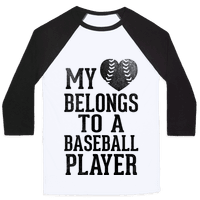 My Heart Belongs To A Baseball Player (Baseball Tee)