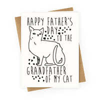 Happy Father's Day to the Grandfather of My Cat Greetingcard