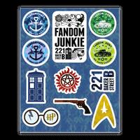 Fandom Junkie Sticker