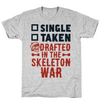 Single Taken Drafted in The Skeleton War Tee