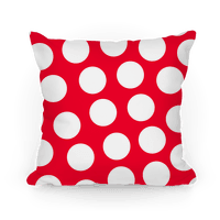 Red Polka Dot Pillow