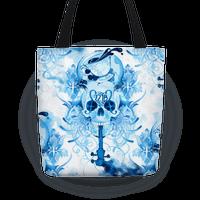 221B Sherlock Skull Watercolor Tote