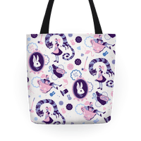 Alice In Wonderland Pattern Tote
