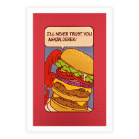 Burger Pop Art Comic Panel