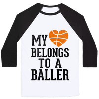 My Heart Belongs To A Baller (Baseball Tee)