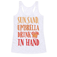 Sun Sand Umbrella Drink In Hand