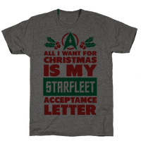 All I Want for Christmas Is my Starfleet Acceptance Letter