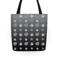 Weed and Hearts Black and White Ombre Pattern