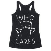 Who Cares Cat Racerback