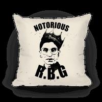 Notorious R.B.G. Pillow