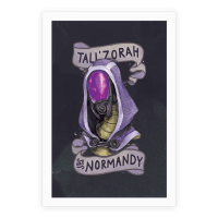 Tali'Zora Vas Normandy Poster