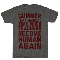 Summer That Magical Time When Teachers Become Human Again