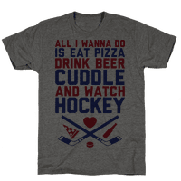 Pizza, Beer, Cuddling, And Hockey