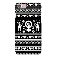 Girl Power Ugly Sweater Pattern Case