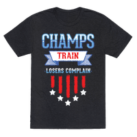 Champs Train. Losers Complain