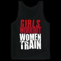 Girls Workout; Women Train Tank