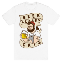 Beer, Beards and Cats Tee