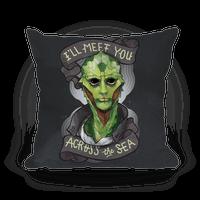 I'll Meet You Across The Sea (Thane) Pillow
