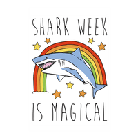 Shark Week Is Magical Wall-decal