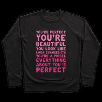 You're Beautiful You Look Like Linda Evangelista White Print