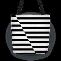 Cut Stripes Pattern Tote