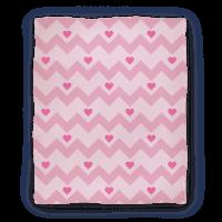 Chevron Heart Blanket