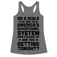 On a Scale of One to America's Educational System How Fucked Up Are You Getting Tonight?
