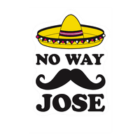 No Way Jose Wall-decal