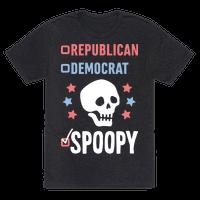 Republican Democrat SPOOPY (White) Tee