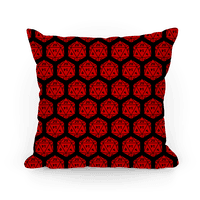 D20 Pillow (Red Dice)