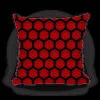 D20 Pillow (Red Dice) Pillow