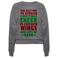 The Best Way To Spread Christmas Cheer Is Chicken Wings And Lots Of Beer