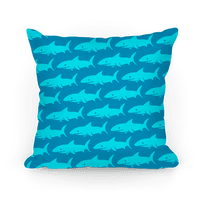 Shark Pattern Pillow (Dark Blue)