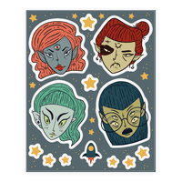 Cosmic Cuties Sticker