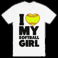 I Love My Softball Girl