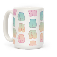 Kawaii Pastel Butt Pattern Mug