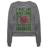 I Just Like Knitting Knitting's My Favorite