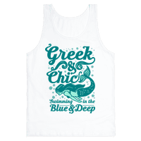 Greek & Chic Swimming in the Blue & Deep
