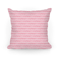 Doodle Sewing Stitches Pattern (Pastel Pink) Pillow