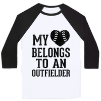My Heart Belongs To An Outfielder (Baseball Tee)