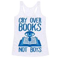 Cry Over Books Not Boys Racerback