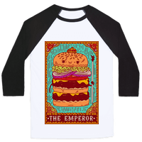 Burger Emperor Tarot Card
