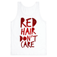 Red Hair Don't Care Tank