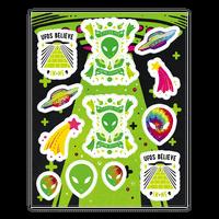 Retro Alien Sticker