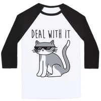 Deal With It Cat Baseball
