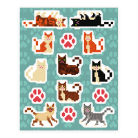 Cute Pixel Kitty Cat