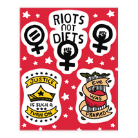 Hand Drawn Style Feminist Sticker
