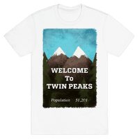 Vintage Twin Peaks Travel Sign
